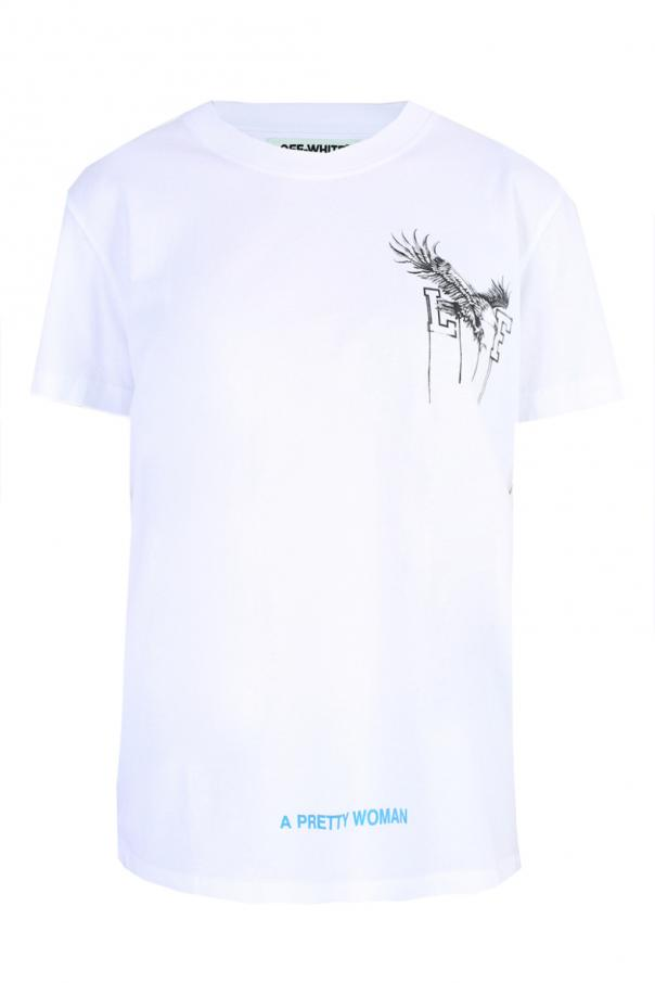 T-shirt z nadrukiem od Off White